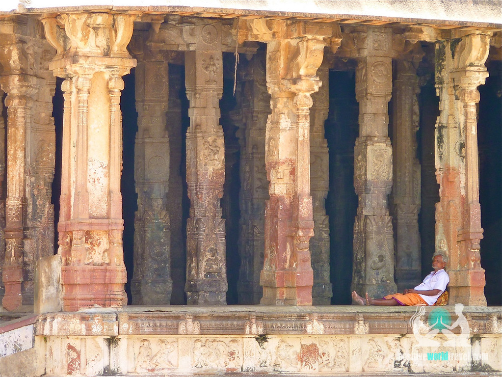 Lone man in Hampi