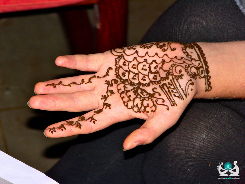 Indian henna tattoo